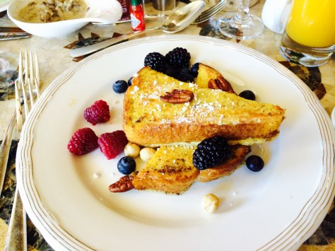 French toast with Grand Manier and fresh berries