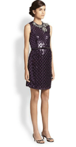Marc Jacobs Sequined Eyelet Shift Dress