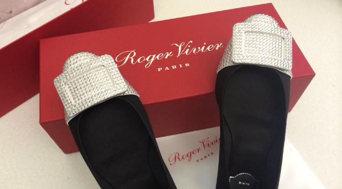 Roger Vivier Belle Vivier Embellished Satin Ballerinas
