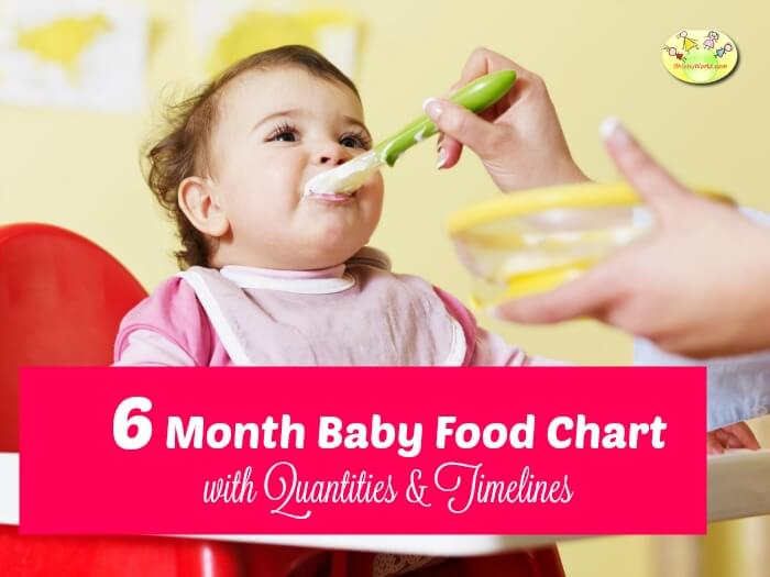 6 Month Baby Food Chart / Indian Food Chart for 6 Months old baby