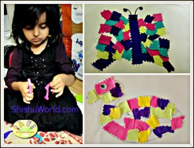 Easy Craft Activity for Kids- Patchwork Animals