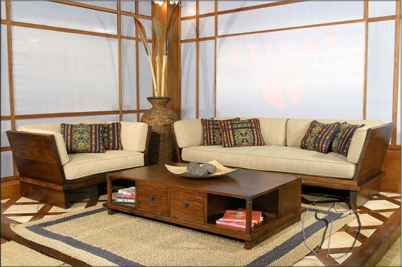 Elegant Cabin Wooden Living Room Furniture Beautifully Wooden
