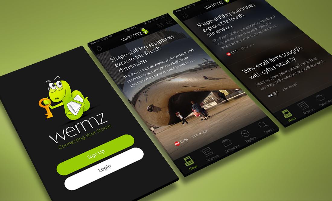 ShoaWorks WERMZ News App, UI Design
