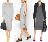 What Color Shoes to Wear with Grey Dress Outfit