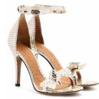 Isabel Marant 'Dore' python-effect metallic leather sandals