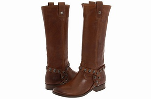 Frye Melissa Honeycomb Boots Leather Strapping Design