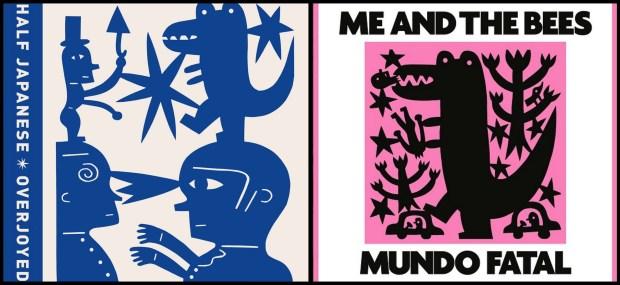 Las dos portadas, con diseño de