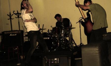 La banda húngara, en un directo
