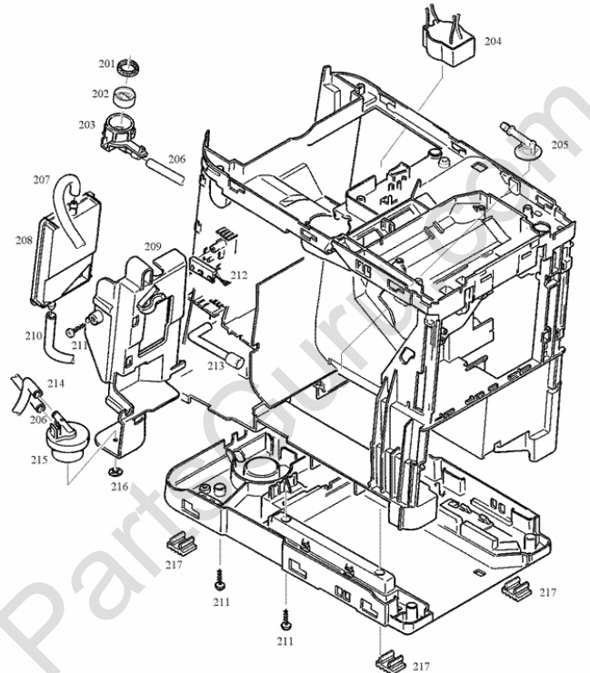 Jura ENA Micro 9 One Touch Parts and Wiring Diagram