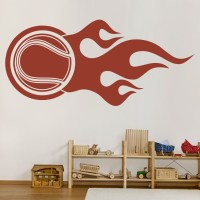 Flaming Tennis Ball Decorative Wall Art Stickers Wall Decal