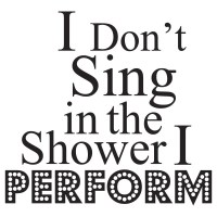 I Perform Wall Sticker Bathroom Quote Wall Decal Shower ...