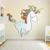 Large Unicorn Wall Sticker Nursery Wall Decal Girls ...