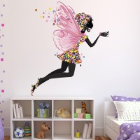Flower Fairy Wall Sticker Fairy Tale Fantasy Wall Decal ...