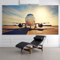Airplane Sunrise Wall Mural Aeroplane Photo Wallpaper ...