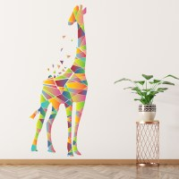 Geometric Giraffe Wall Sticker Safari Animals Wall Decal ...
