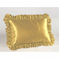 Satin Ruffled Pillow Sham