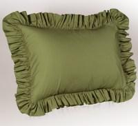 Solid Ruffled Pillow Sham