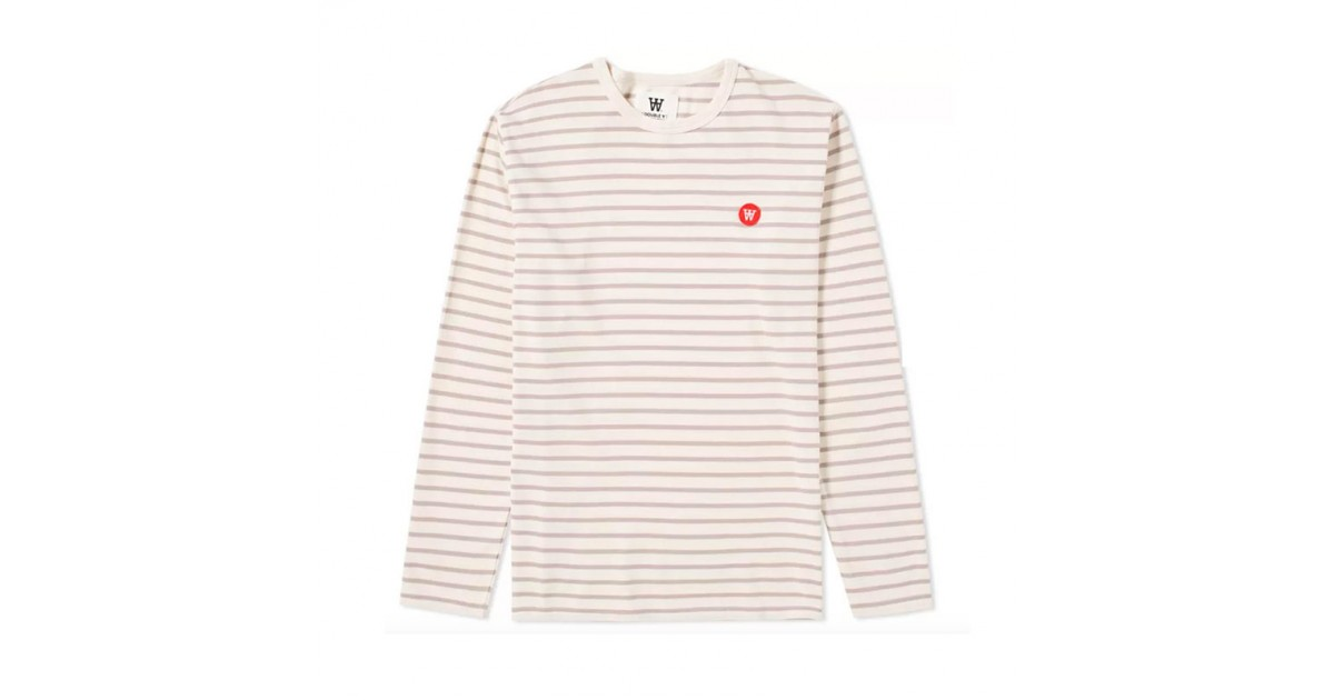Long Sleeve Mel Tee Off White Stone Stripe Shopenauer