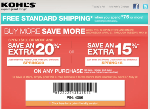 Kohl's Spend & Save Event