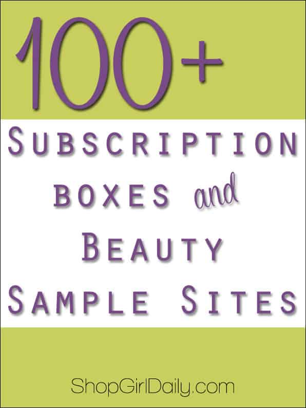 Subscription Boxes and Beauty Sample Sites