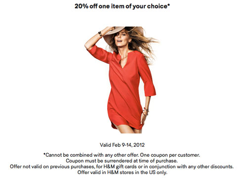 H&M-Coupon