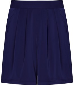 navy silk short reiss
