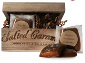 salted bourbon caramel - Stocking Stuffers for Men - FantabulouslyFrugal.com 2012 Holiday Gift Guide - #giftguide #stockingstuffers