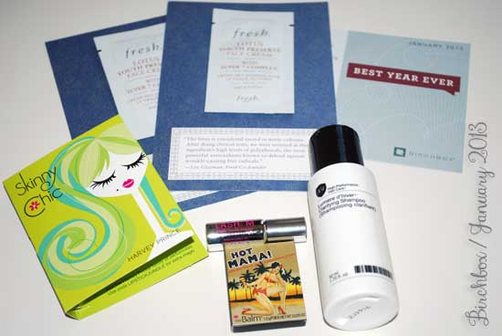 Birchbox Review - January 2013 Box