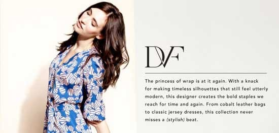 Diane von Furstenberg sale at Rue La La on January 24, 2013.