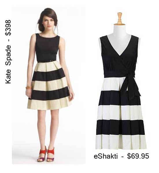 Get the Kate Spade Striped Celina Dress for Less via eShakti