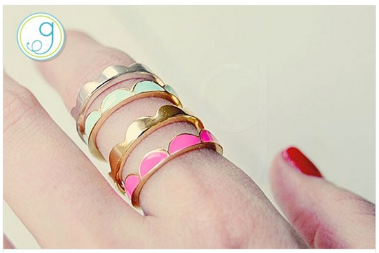 GroopDealz Kate Spade Scallop Rings replica