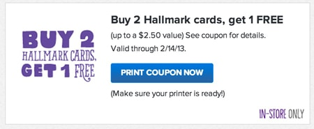 Hallmark Valentine's Day Coupon
