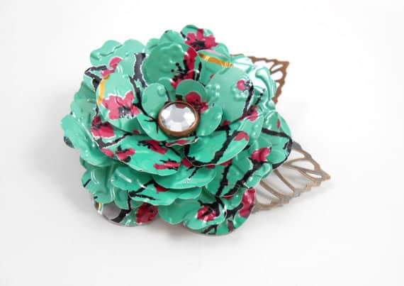 JMP Designs Tea Rose Brooch