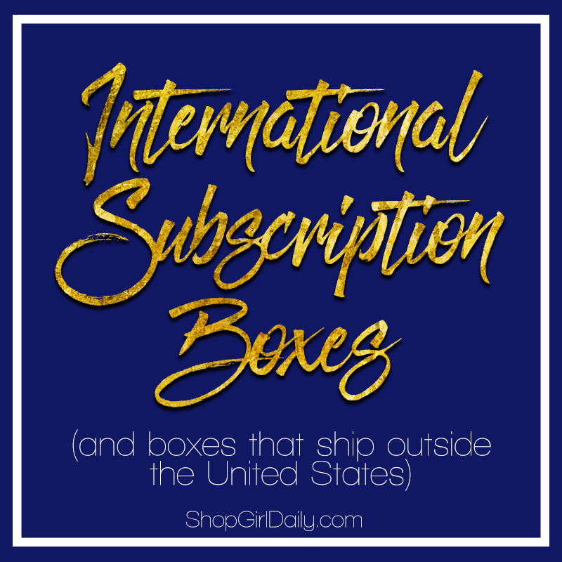 International Subscription Boxes