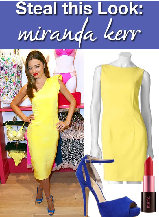 Steal this Look - Miranda Kerr's Yellow Dress