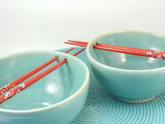 noodle bowl blue sky pottery
