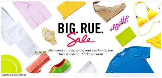 Big Rue Sale