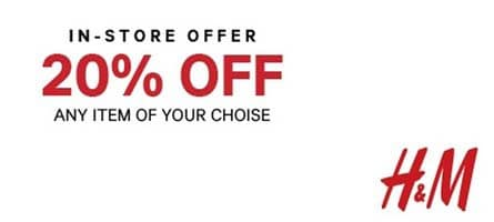 photograph about H and M Printable Coupons named H and m printable retail outlet coupon codes korting all4jogging