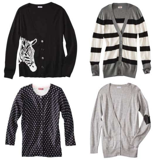 Black, White, and Gray Sweaters from Target for Fall