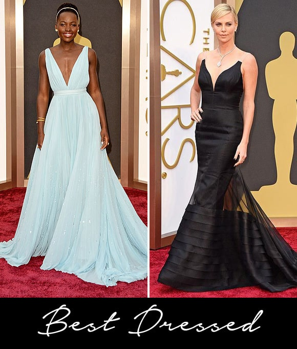 Lupita Nyong'o and Charlize Theron are best dressed at the 2014 Oscars