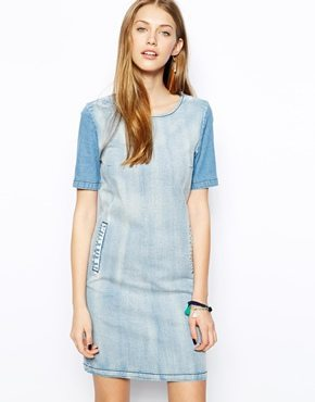 ASOS denim shift dress
