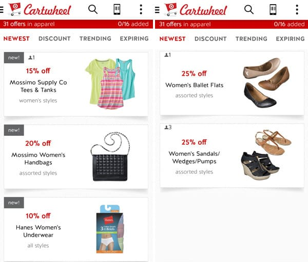 Cartwheel Coupons at Target