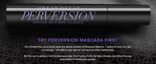 Get a Free Deluxe Sample of Urban Decay Perversion