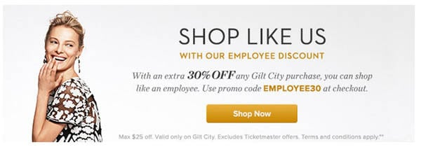 30% Off at Gilt City