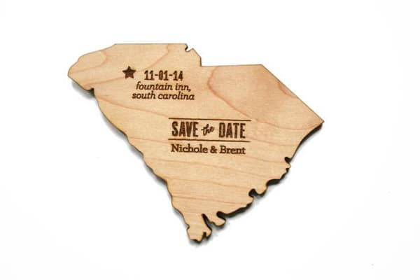 South Carolina Save the Date Magnets