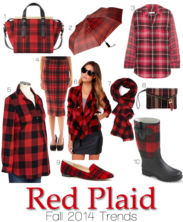 Fall 2014 Trends: Red Plaid