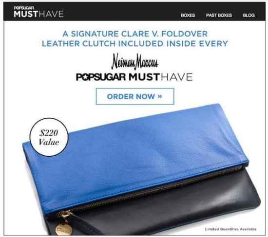 PopSugar Must Have Neiman Marcus Box Sneak Peek: Clare V. Clutch