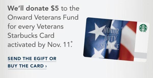 Veterans Starbucks Card