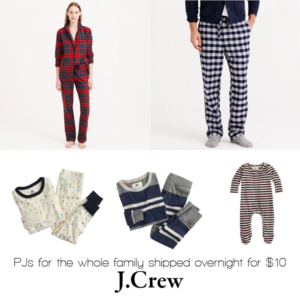 PJs for the whole family from J.Crew
