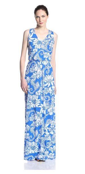 Lilly Pulitzer Seahorse Maxi Dress